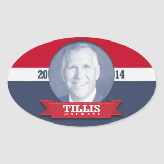 THOM TILLIS CAMPAIGN OVAL STICKERS