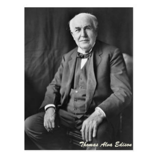 Thomas Alva Edison Postcard