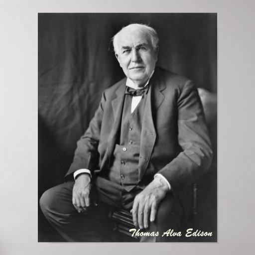Thomas Alva Edison Poster