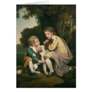 Thomas and Joseph Pickford as Children, c.1777-9 Card