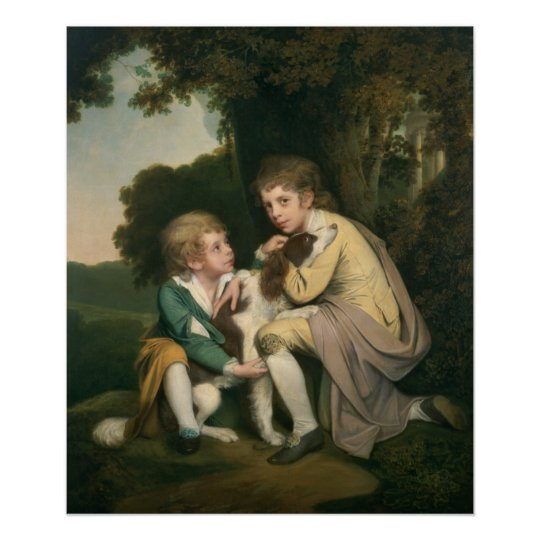 Thomas and Joseph Pickford as Children, c.1777-9 Poster