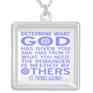 Thomas Aquinas Quote Necklace