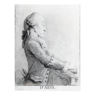 Thomas Augustine Arne Postcard