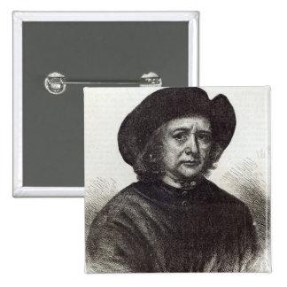 Thomas Britton, the Musical Small-coal Man 15 Cm Square Badge
