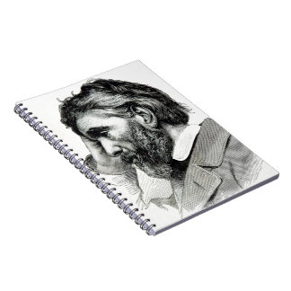 Thomas Carlyle Vintage Portrait Spiral Note Book
