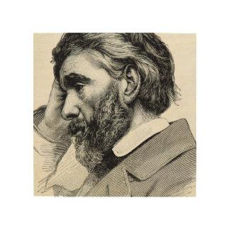 Thomas Carlyle Vintage Portrait Wood Canvases