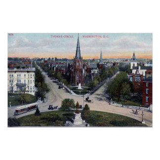 Thomas Circle, Washington DC 1910 Vintage Posters