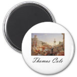 Thomas Cole The Course of Empire Consummation 6 Cm Round Magnet