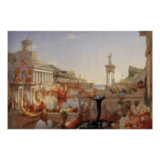 Thomas Cole The Course of Empire Consummation Poster