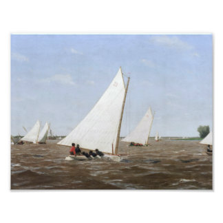Thomas Eakins - Sailboats Racing on the Delaware Photograph