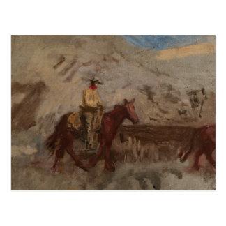 Thomas Eakins - Sketch of a Cowboy at Work Postcard
