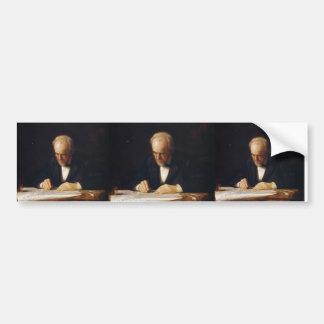 Thomas Eakins-The Writing Master (Benjamin Eakins) Bumper Sticker