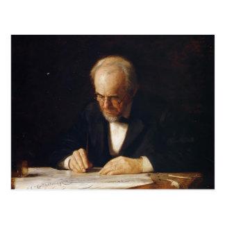 Thomas Eakins-The Writing Master (Benjamin Eakins) Post Card