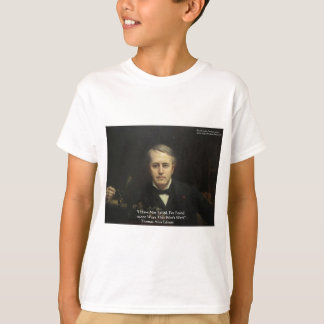 "Thomas Edison ""10,000 Ways"" Wisdom Quote Gifts T-Shirt"