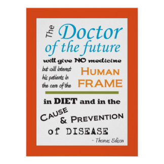 Thomas Edison Doctor of Future Poster Customize