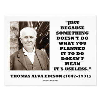 Thomas Edison Doesn t Mean Its Useless Quote Personalized Invites