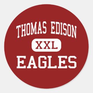 Thomas Edison - Eagles - High - Alexandria Stickers
