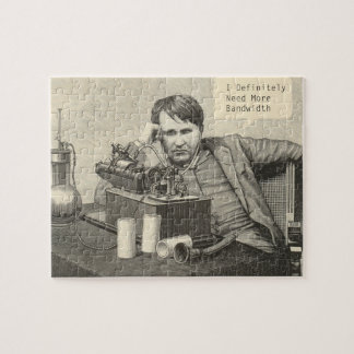 Thomas Edison Needs Bandwidth Jigsaw Puzzle