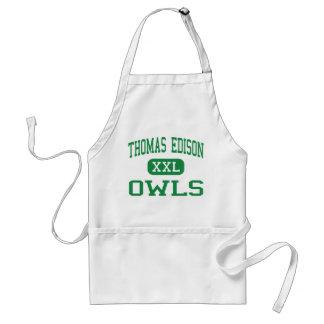Thomas Edison - Owls - High - Philadelphia Adult Apron