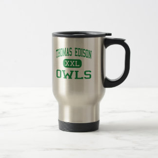 Thomas Edison - Owls - High - Philadelphia 15 Oz Stainless Steel Travel Mug