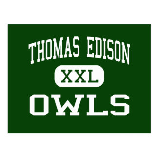 Thomas Edison - Owls - High - Philadelphia Postcards