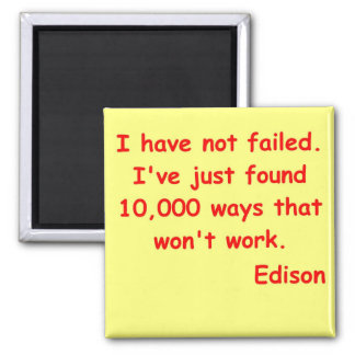Thomas Edison quote Magnet