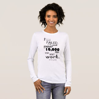 Thomas Edison Quote Women's Basic American Shirt