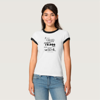 Thomas Edison Quote Women's Basic Canvas Ringer T-Shirt