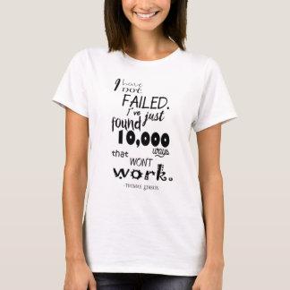 Thomas Edison Quote Women's Basic T-Shirt