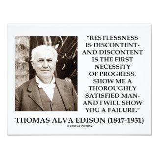 Thomas Edison Restlessness Discontent Progress 11 Cm X 14 Cm Invitation Card