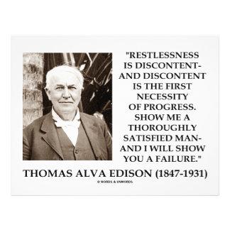 Thomas Edison Restlessness Discontent Progress 21.5 Cm X 28 Cm Flyer