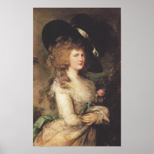 Thomas Gainsborough Lady Georgiana Cavendish Poster