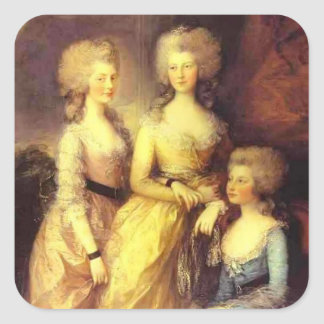 Thomas Gainsborough-Three daughters of George III Stickers