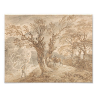 Thomas Gainsborough -Wooded Landscape with Peasant Photo