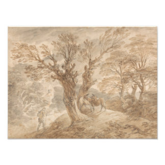 Thomas Gainsborough -Wooded Landscape with Peasant Photograph