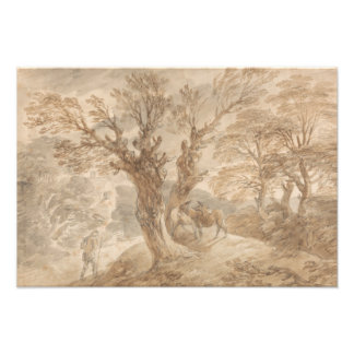 Thomas Gainsborough -Wooded Landscape with Peasant Photographic Print