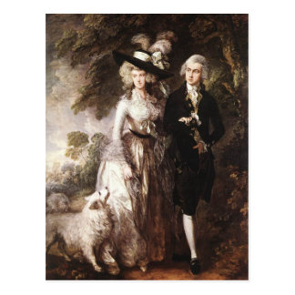 Thomas Gainsborough's Mr and Mrs William Hallett Postcard