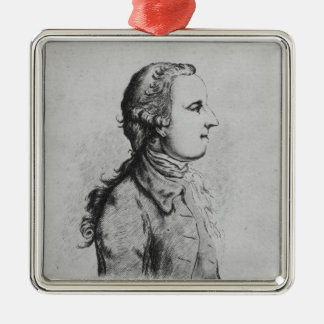 Thomas Gray, drawn by William Henshaw Christmas Ornament