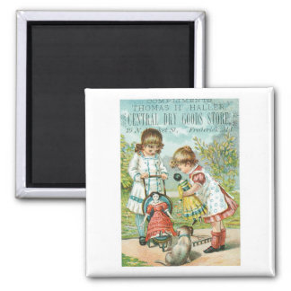 Thomas H Haller Central Dry Goods Store Square Magnet