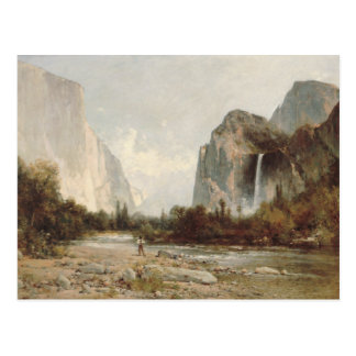 Thomas Hill - Yosemite, Bridal Veil Falls Postcard