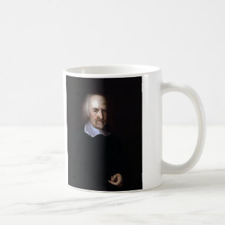 Thomas Hobbes by John Michael Wright Basic White Mug