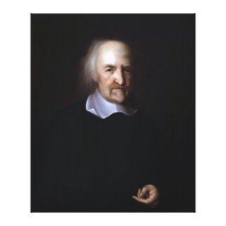 Thomas Hobbes by John Michael Wright Stretched Canvas Prints