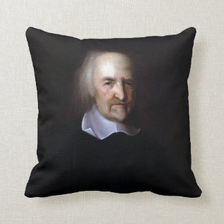 Thomas Hobbes by John Michael Wright Pillow