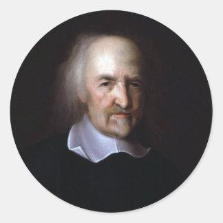 Thomas Hobbes by John Michael Wright Round Sticker