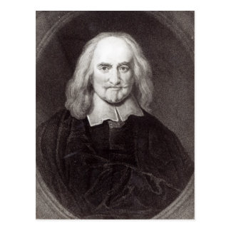 Thomas Hobbes  from 'Gallery of Portraits' Postcard