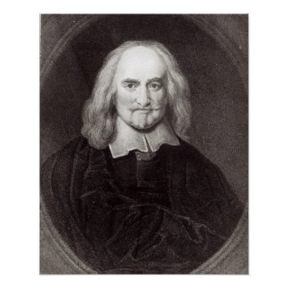 Thomas Hobbes  from 'Gallery of Portraits' Poster