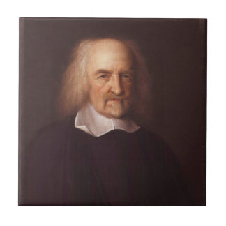 Thomas Hobbes of Malmesbury by John Michael Wright Small Square Tile