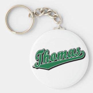 Thomas in Green Basic Round Button Key Ring