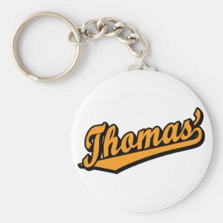 Thomas' in Orange Basic Round Button Key Ring