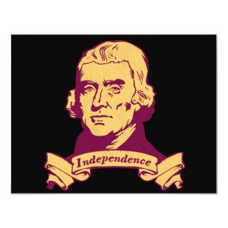 Thomas Jefferson 11 Cm X 14 Cm Invitation Card
